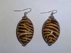 Tiger print earrings